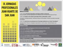 IX Jornadas profesionales Juan Huarte de San Juan